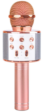 This is an image of kid's Microphone with bluetooth wireless in pink color