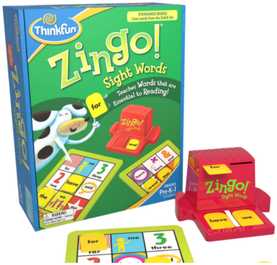 This is an image of kid's Zingo reading and educational game