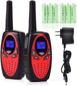 two red walkie talkies