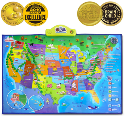 This is an image of interactive map for kids