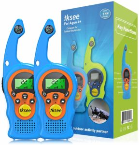 two blue iksee radios