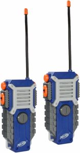 two blue nerf walkie talkies