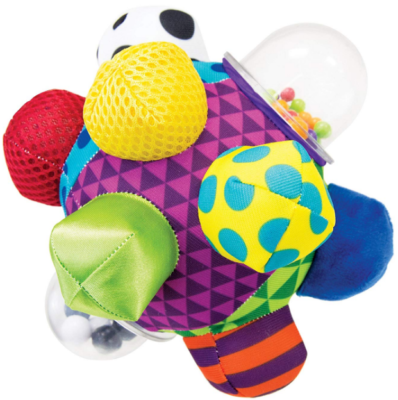 This is an image of kid's sassy ball in colorful colors