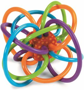 rattle with colorful tubes
