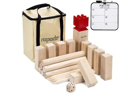 This is the image of Kubb Game Premium Set