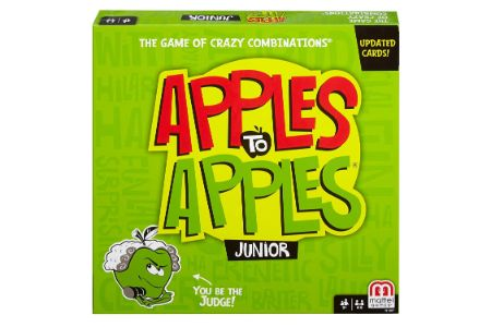 This is the image of Mattel's Apples to Apples Junior Comparison Game