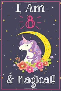 this is an image of a unicorn journal for 8 year olds