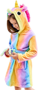 this is an image of a unicorn bathrobe