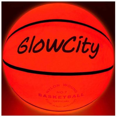 This is an image of GlowCity Light Up Basketball-Uses Two High Bright LED's (Official Size and Weight)