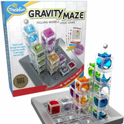 This is an image of ThinkFun Gravity Maze Marble Run Brain Game and STEM Toy for Boys and Girls Age 8 and Up – Toy of the Year Award Winner
