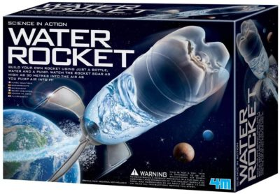 This is an image of 4M 4605 Water Rocket Kit - DIY Science Space Stem Toys Gift for Kids & Teens, Boys & Girls