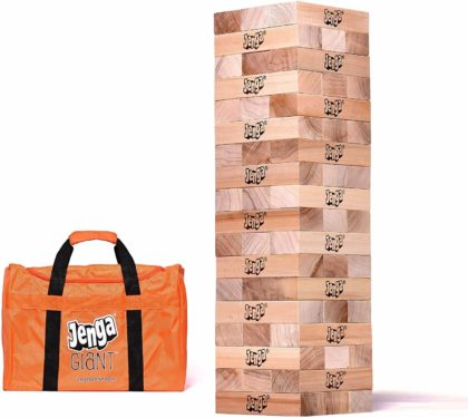 This is an image of Jenga Giant JS7 Hardwood Game (Stacks to 5+ feet. Ages 12+)