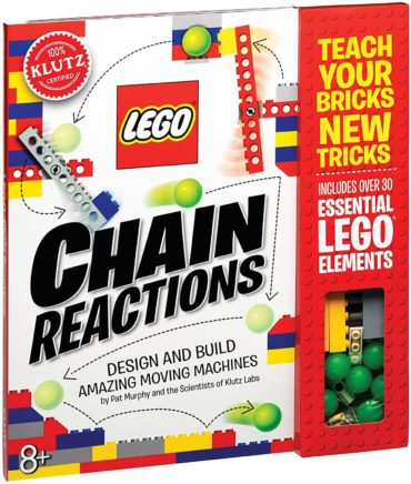 This is an image of Klutz Lego Chain Reactions Science & Building Kit, Age 8