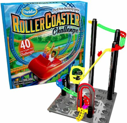 This is an image of ThinkFun Roller Coaster Challenge STEM Toy and Building Game for Boys and Girls Age 6 and Up – TOTY Game of the Year Finalist
