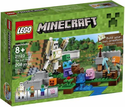 This is an image of LEGO Minecraft The Iron Golem 21123