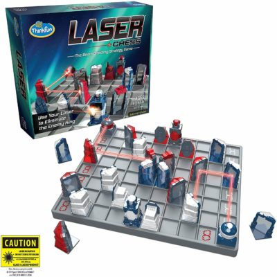 This is an image of ThinkFun Laser Chess Two Player Strategy Game and STEM Toy for Boys and Girls Age 8 and Up - MENSA Award Winner