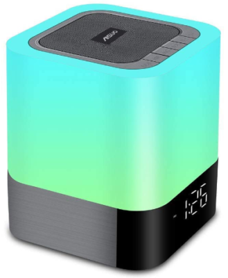 This is an image of girl's lamp with bluetooth and speaker