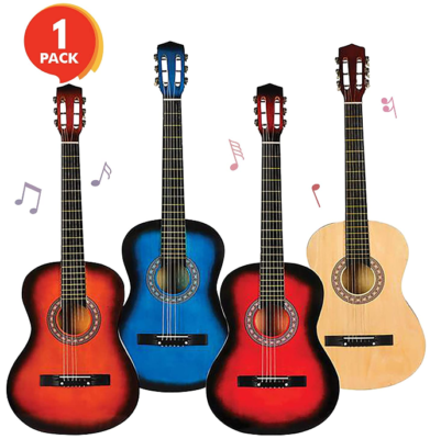 This is an image of boy's string acoutic guitar pack