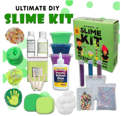 This is an image of boy's slime kit science