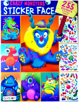 This is an image of kid's Monsters sticker book with 255 pieces