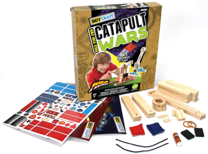 This is an image of kid's Catapult wars by Horizon group