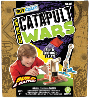 This is an image of kid's catapult war building kit