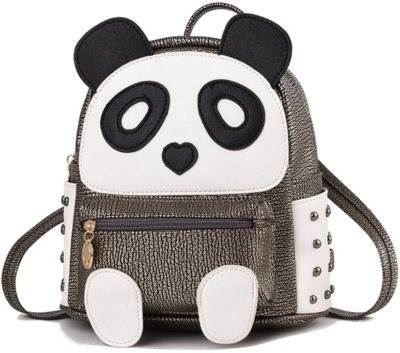 This is an image of girl's panda backpack for girls