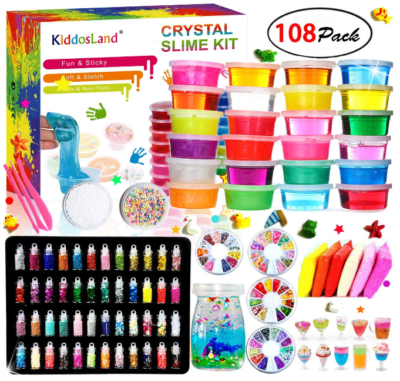 This is an image of girl's DIY slime kit