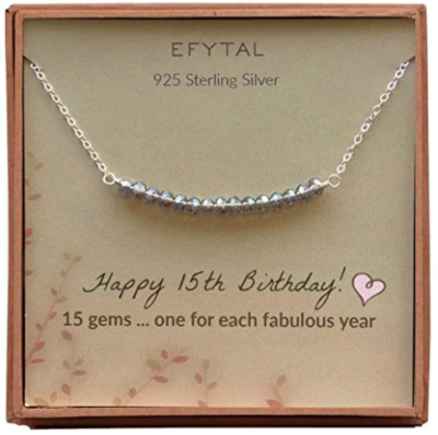 This is an image of girl's necklace for 15th birthday by EFYTAL