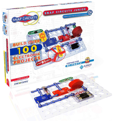 This is an image of kid's Snap circuits board game