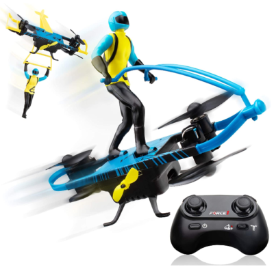 This is an image of boy's Stunt Remote control drone in black and blue colors