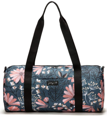 This is an image of girl's Gym or weekender bag with flower graphics by Jadyn