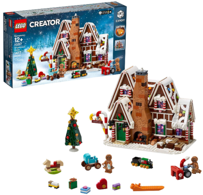 This is an image of kid's LEGO creator gingerbread house building kit