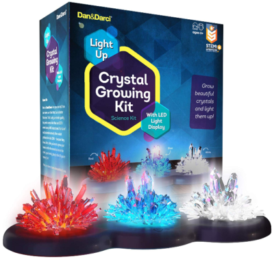 This is an image of girl's Crystal growing kit in colorful colors