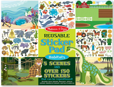 This is an image of kid's sticker pad