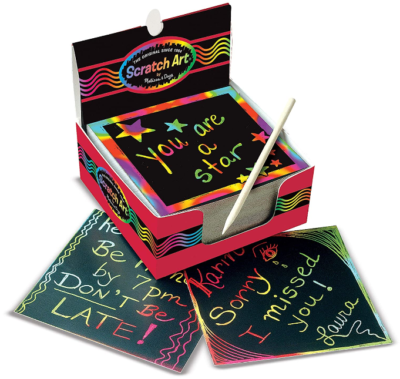 This is an image of girl's art box of rainbow note