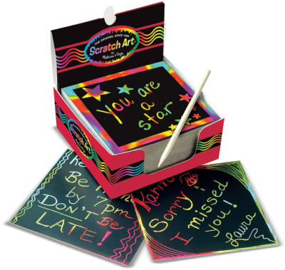 This is an image of kid's melissa and doug scratch art box