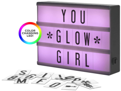 This is an image of girl's lightbox LED with 100 Letters and changing lights