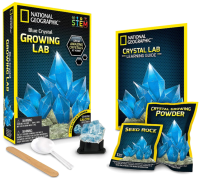 This is an image of kid's National geographic blue crystal DIY