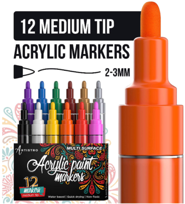 This is an image of kid's Paint pens medium markers pack