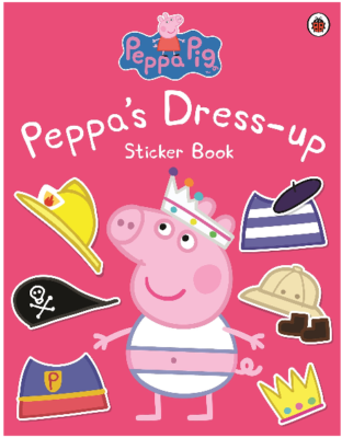 This is an image of kid's peppa pig peppa dress up book