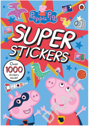 This is an image of kid's peppa pig super stickers book