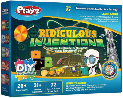 This is an image of kid's STEM electricity and magnetic experiment building set by Playz