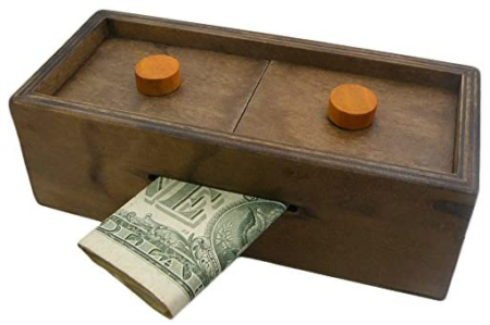 This is an image of kid's Gift holder wooden magic for money