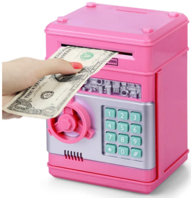 This is an image of kid's Electronic coin money in pink color