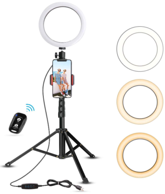 This is an image of kid's Selfie ring light tripod stand and phone holder