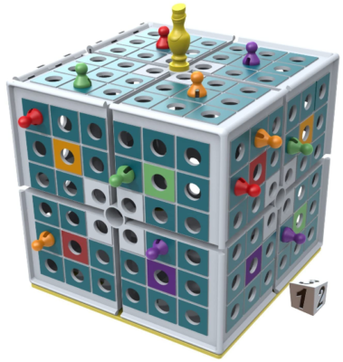 This is an image of kid's Startegy board game in colorful colors