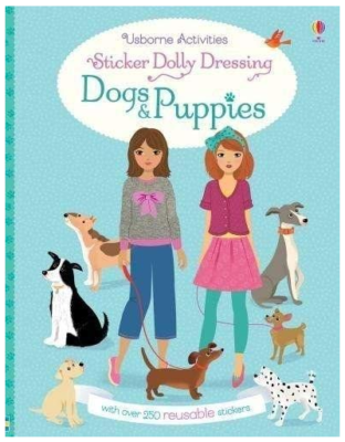 This is an image of kid's dolly dressing dogs and puppies sticker