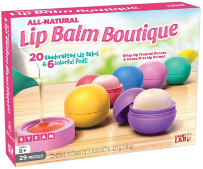 This is an image of kid's natural lip boutique in colorful colors