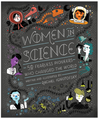 This is an image of girl's Women in science book